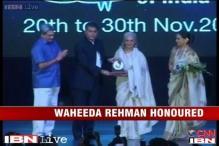 E-Lounge: Waheeda Rehman gets first Centenary Film Award at IFFI