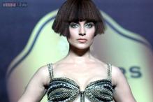 Snapshot: A bob wig, futuristic make-up; is it really Kangana Ranaut on the ramp?