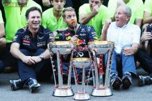 In pics: Vettel clinches eighth straight win at US Grand Prix
