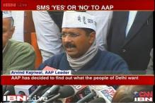 AAP approaches 'aam aadmi' to take a decision on government formation