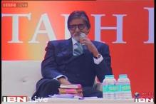 Amitabh Bachchan attends the Penguin Lecture in Delhi