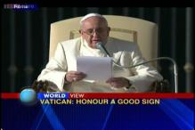 Honour to Pope Francis a good sign , says Vatican