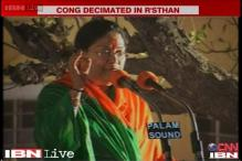 Rajasthan: Vasundhara Raje-led BJP storms to power with 3/4th majority