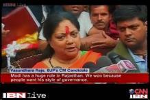 Rajasthan: Vasundhara Raje storms to power, credits Narendra Modi
