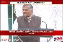 Gen VK Singh takes a dig at Kejriwal at Anna Hazare's fast venue