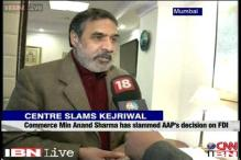 AAP's decision to disallow FDI in retail abrupt: Anand Sharma