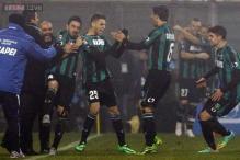 Teenager Berardi scores four as Sassuolo stun AC Milan