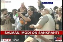 Watch: Salman Khan flies kites with Narendra Modi on Makar Sankranti