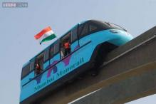 In pics: Pink, blue, green - Mumbai's colourful Monorail