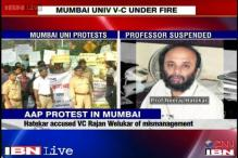 Protests in Mumbai University over professor's suspension, AAP joins in