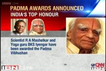 Scientist R Mashelkar, yoga guru BKS Iyengar get Padma Vibushan