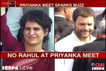 Priyanka meets Cong leaders, speculation over her role in LS polls rises
