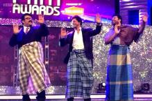 Mammootty, Mohanlal perform 'Lungi Dance' with Shah Rukh Khan