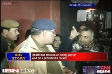 Delhi minister Somnath Bharti caught on camera shouting at policemen