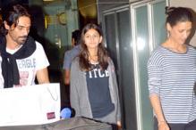 Spotted: The children of Arjun Rampal, Arbaaz Khan, Sohail Khan at the airport