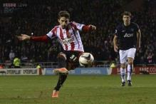 League Cup: Advantage Sunderland as Manchester United lose again