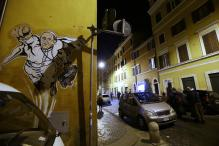 SuperPope graffiti of Francis sprouts up in Vatican