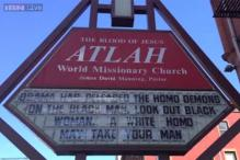 New York church posts horrific anti-gay sign outside its premises
