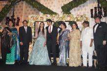 Snapshot: LK Advani, Sushma Swaraj at Ahana Deol's reception in Delhi