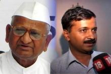 Kejriwal meets Anna at Maharashtra Sadan, terms it a courtesy call