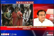 Kiran Reddy crossed the 'lakshman rekha' as CM on Telangana, says Chidambaram
