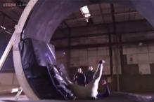 'Skyfall' stuntman becomes the first ever to successfully perform gravity-defying loop the loop stunt on foot