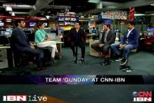 e Lounge: Team 'Gunday' in CNN-IBN newsroom