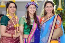 Esha Deol hurts her hand, turns up in these very fancy and sparkling slings