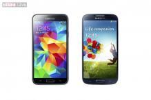 Samsung Galaxy S5 versus the Samsung Galaxy S4