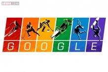 Google quotes the Olympic Charter, posts a protest Winter Olympics doodle in gay pride colours