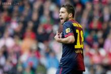 Barcelona full back Alba out of Sociedad trip