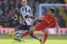 Liverpool held to 1-1 draw at West Brom in EPL