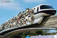 #Win: Hilarious Photoshop shows how rush hour on the Mumbai monorail will look in the future