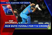 News 360: RCB bags Yuvraj for 14 cr in day one IPL auction