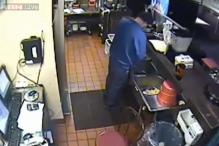 Shocking CCTV footage shows Pizza Hut employee urinating in kitchen sink
