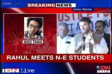 Taniam death: Rahul meets Northeast student, says I'm 100 per cent with you