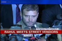 Rahul meets street vendors, says he'll empower them