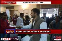 Rahul Gandhi consults women Panchayat chiefs for Congress manifesto