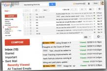 'Streak' for Gmail notifies senders when a recipient reads an email