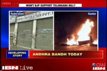 Andhra Pradesh bandh: Protesters burn tyres overnight
