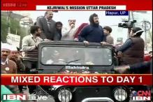 Arvind Kejriwal's 3-day roadshow in UP gets mixed response on Day 1