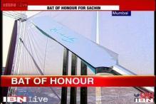 Network18 tribute to Sachin Tendulkar: A 25-feet stainless steel bat