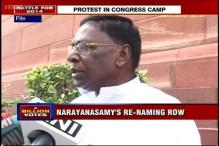 Protest in Congress camp against re-nomination of Narayanasamy