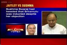 Jaitley criticises Sushma for tweeting against Sriramulu's re-induction