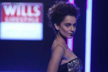Snapshot: Kangana Ranaut stumbles as a showstopper at WIFW finale