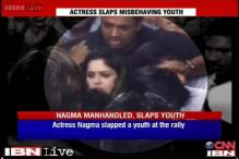 Meerut: Nagma slaps youth at poll rally after he 'manhandles' her