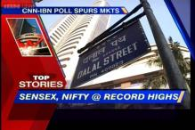 Markets break records, Sensex, Nifty ends at an all time high