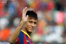 Neymar double lifts Barcelona to second after Valdes injury blow