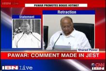 Sharad Pawar clarifies his comment on casting bogus votes