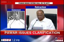 Maharashtra EC asks for copy of Sharad Pawar's 'bogus voting' remark on a CD